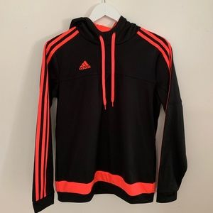 ADIDAS Neon Pink Striped Track Hoodie | Size M